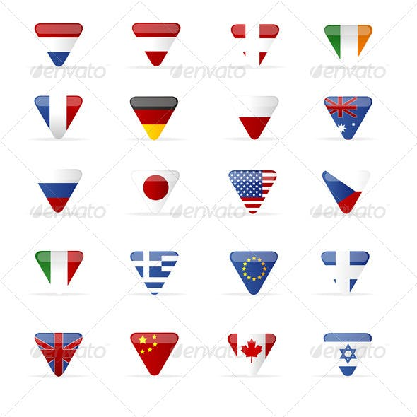 Vector World Flags Triangle