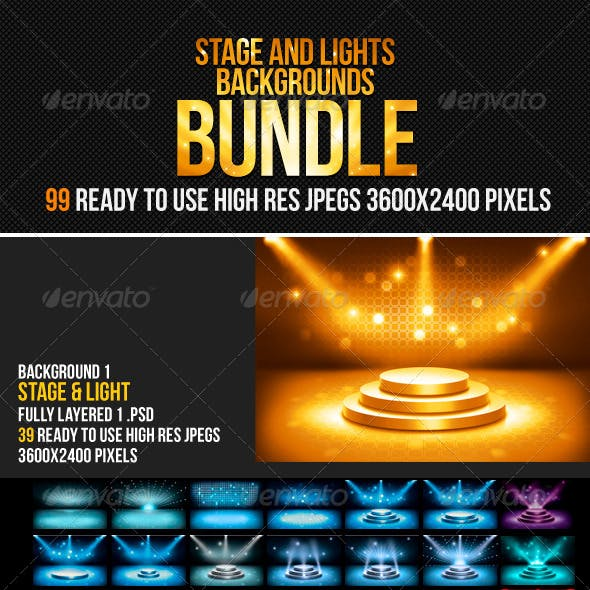 Stage & Lights Backgrounds Bundle