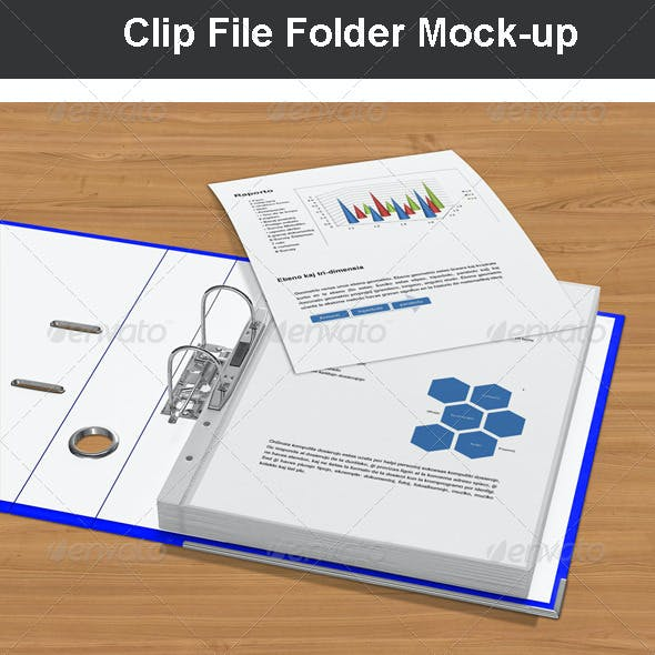 Clip File Folder Mock-up