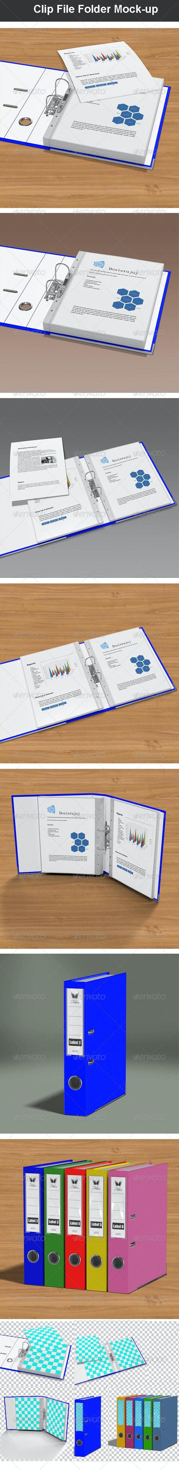 Clip File Folder Mock-up - Miscellaneous Print