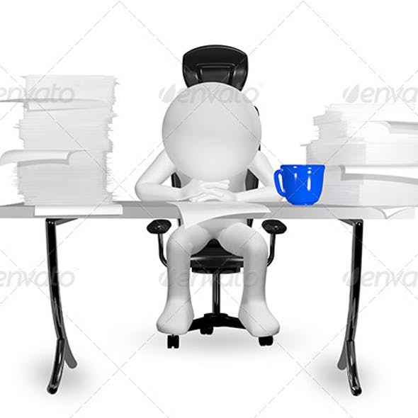 man at the table