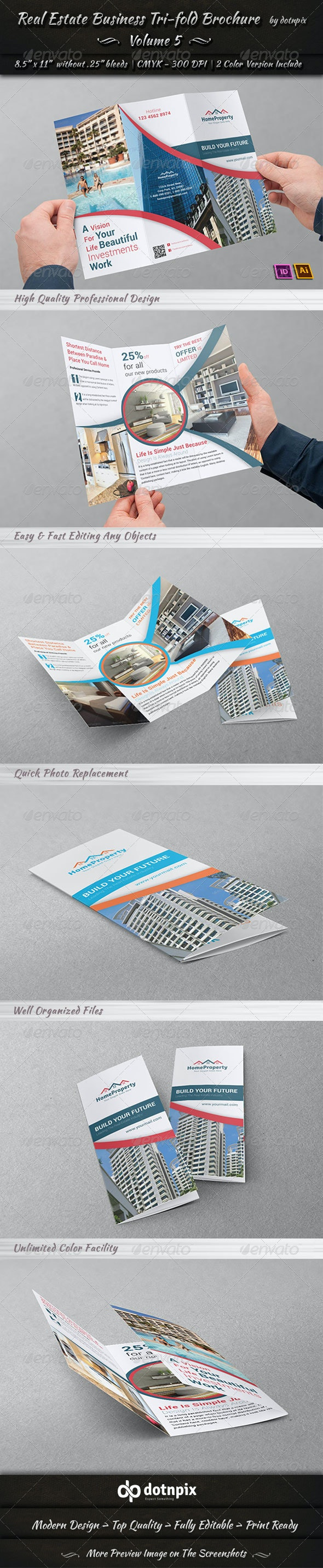 Real Estate Business TriFold Brochure | Volume 5 - Corporate Brochures