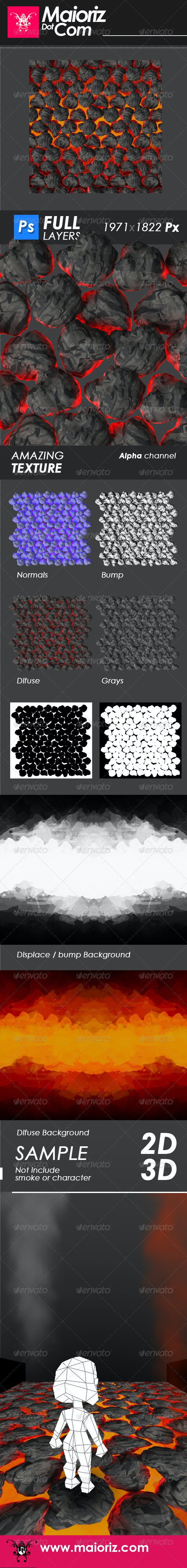 Fire Rocks Texture - Patterns Backgrounds