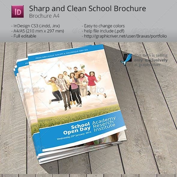 School Welcome Brochure Template