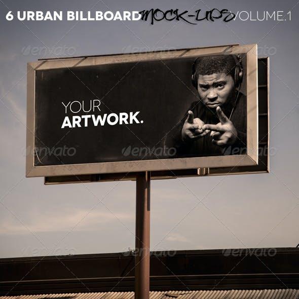 6 Urban Billboard Mock-Ups Volume 1