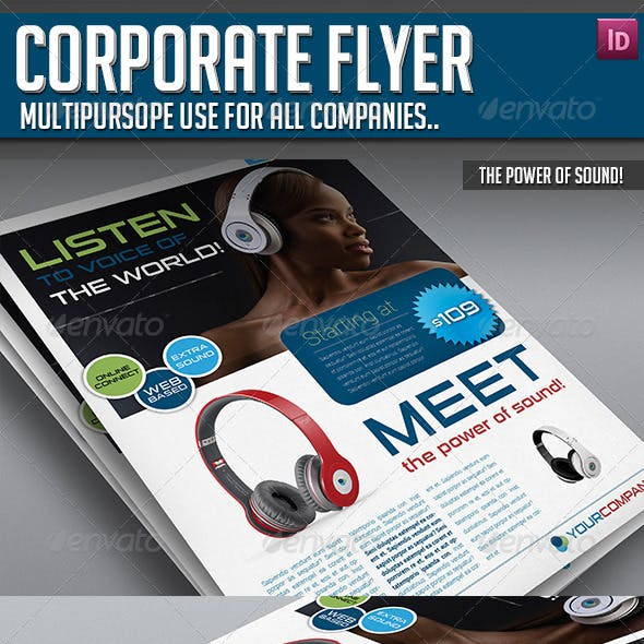 Corporate Flyer - The Power of Sound!