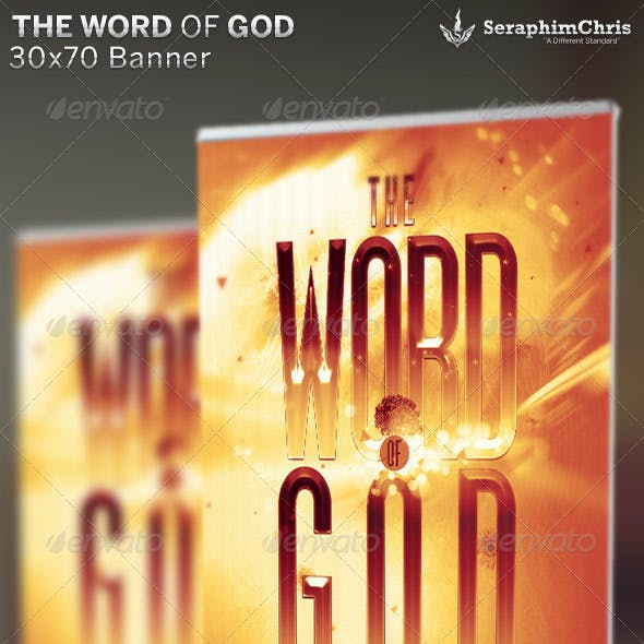 The Word of God: Church Banner Template