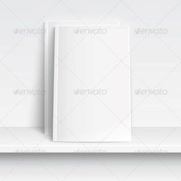 Two Blank White Magazines