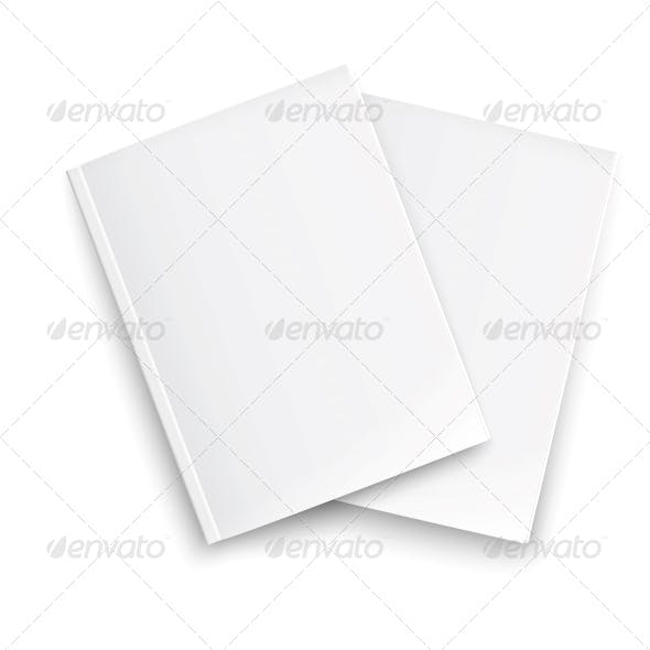 Couple of Blank Closed Magazines Template.