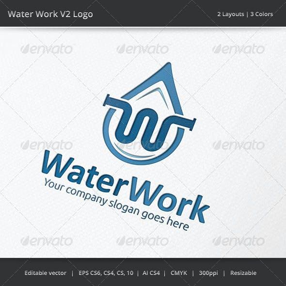 Water Work Plumber Logo v2
