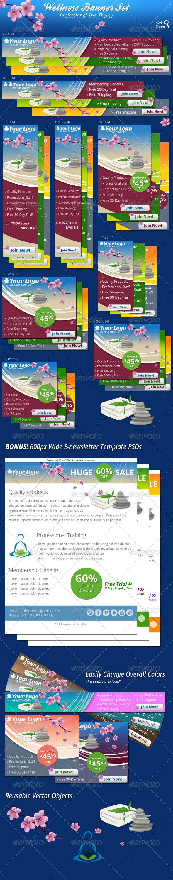 Wellness Banners - Banners & Ads Web Elements