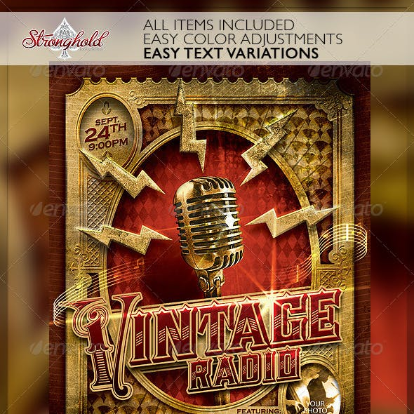 Vintage Jazz Music Event Flyer Template