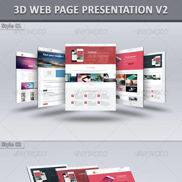 3D Web Page Presentation V2