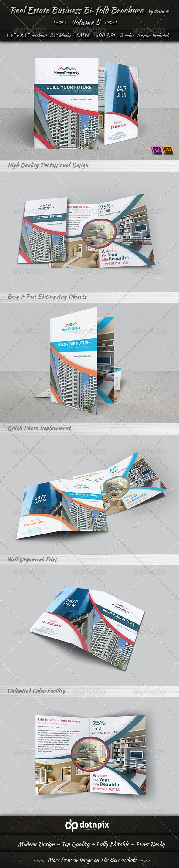 Real Estate Business  Bi-Fold Brochure   Volume 5 - Corporate Brochures