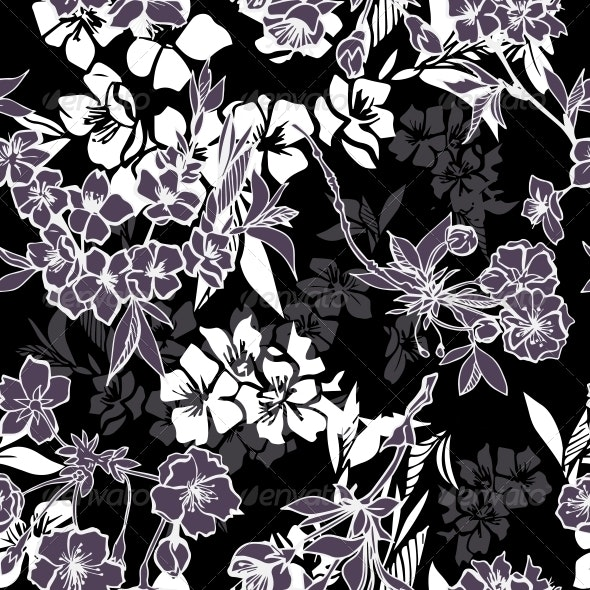 Cherry Blossom Pattern - Backgrounds Decorative