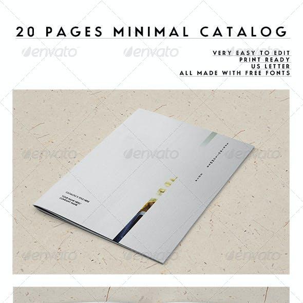 20 Pages Minimal Catalog