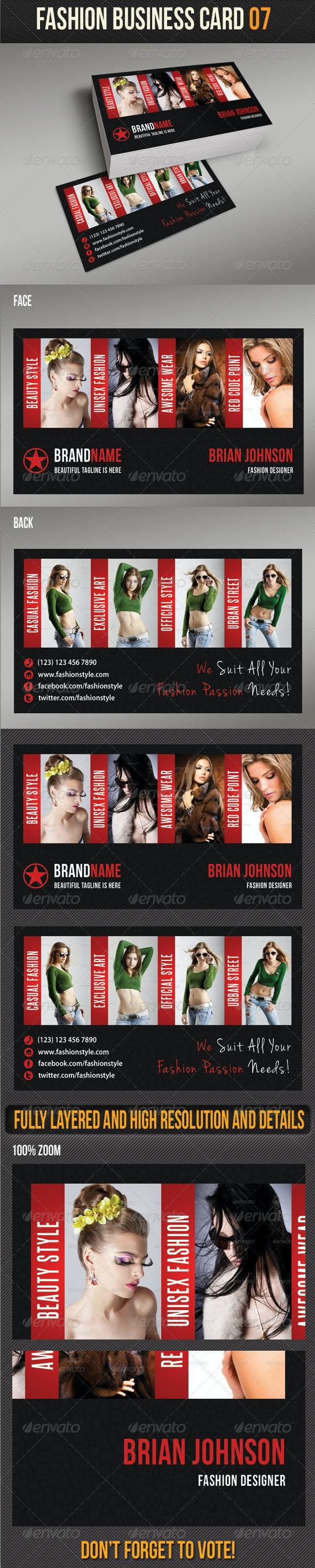 Fashion Business Card 07 - Creative Business Cards