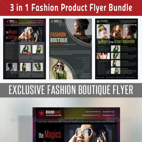 3 in 1 Fashion Product Flyer Bundle 11