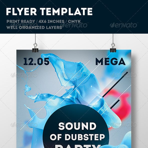 Party Flyer Print Template