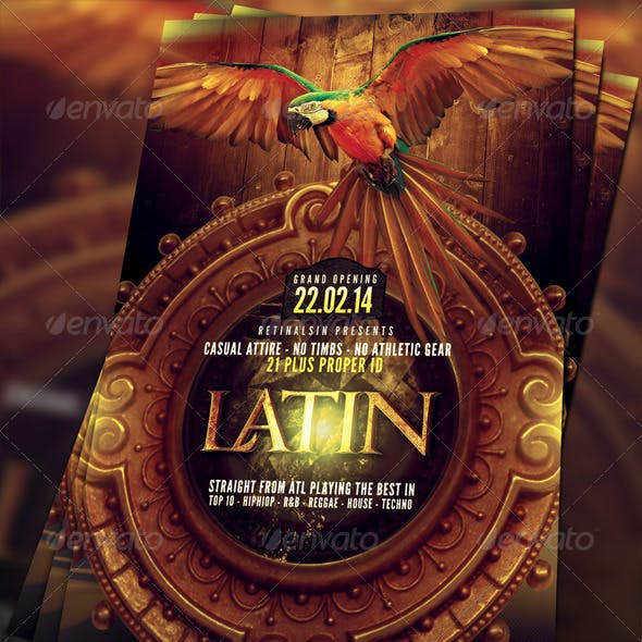 Latin Party Flyer Template