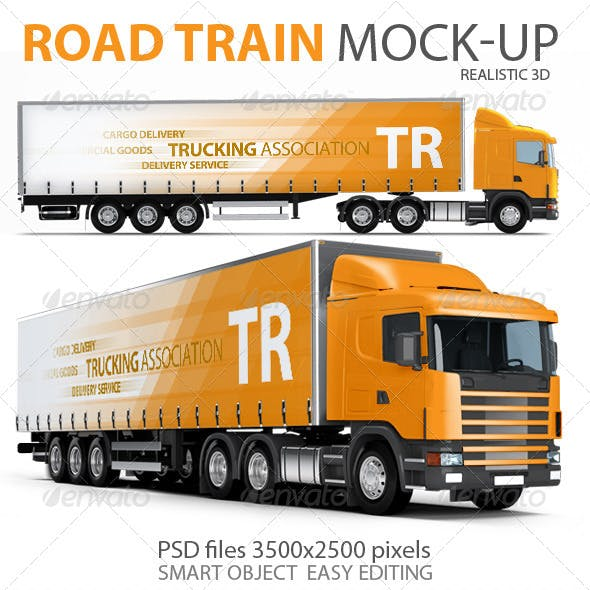 Trailer, Road train, large Truck mock-up