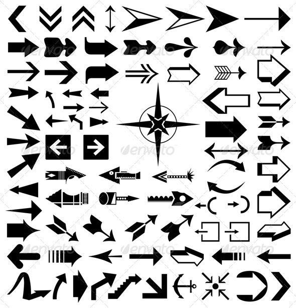 Collection of arrows2 - Miscellaneous Vectors
