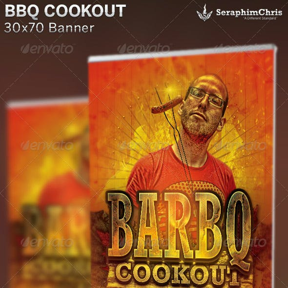 BBQ Cookout Banner Template