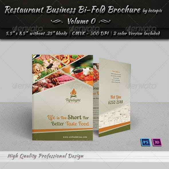 Restaurant Business Bi-fold Brochure | Volume 2