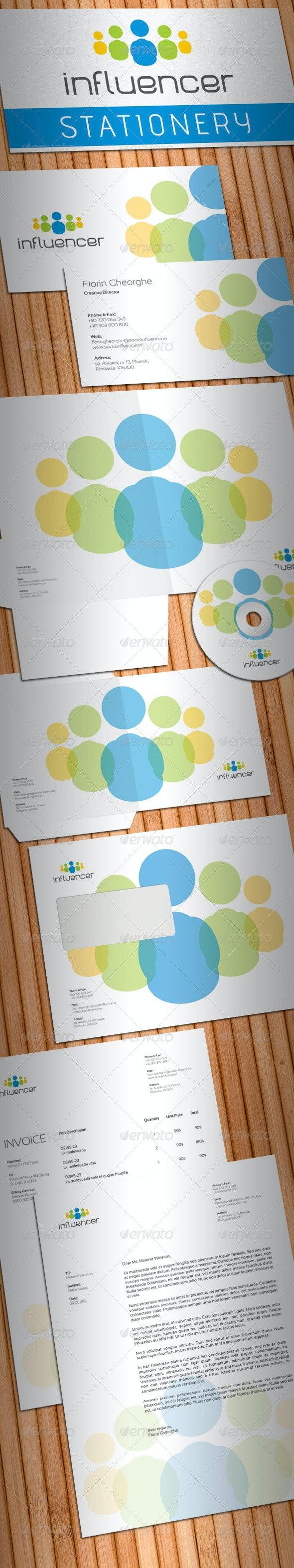 Social Media Influencer Stationery - Stationery Print Templates
