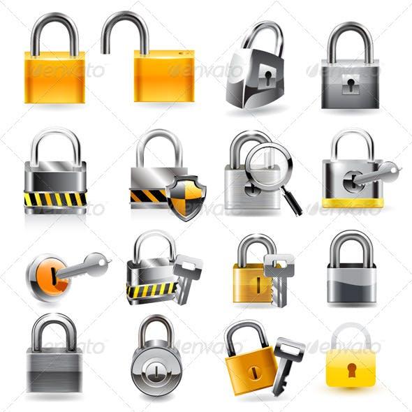 Lock Icon Set.