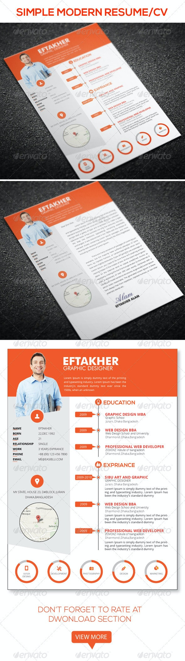 Simple Resume+ - Resumes Stationery