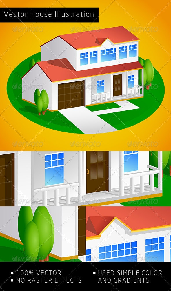 House With Garage - Buildings Objects