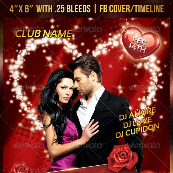 Valentines/Romantic Party Flyer