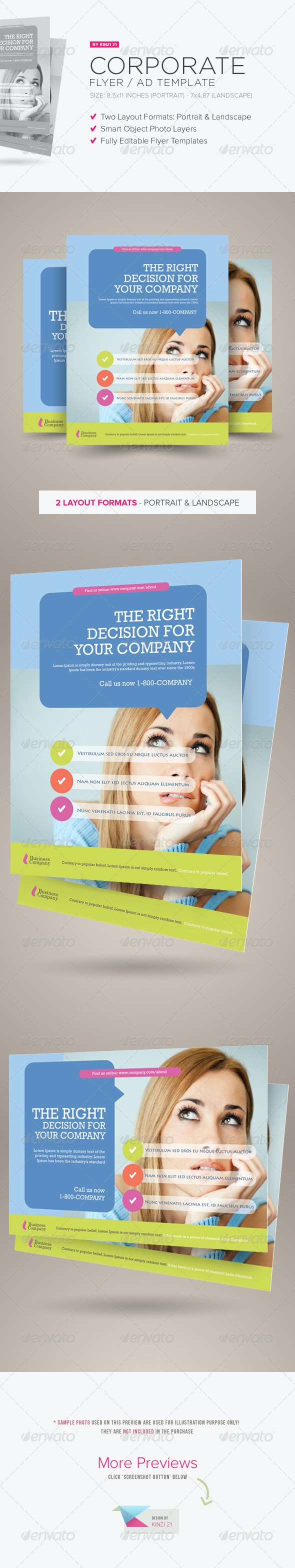 Corporate Flyer/Ad Template - Corporate Flyers