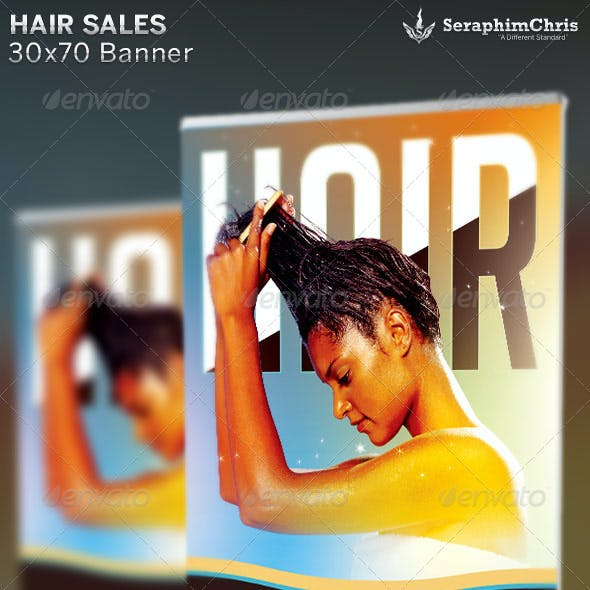 Hair & Weave Sales Banner Template