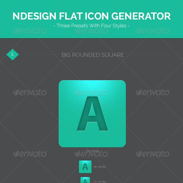 Design Flat Icon Generator Template