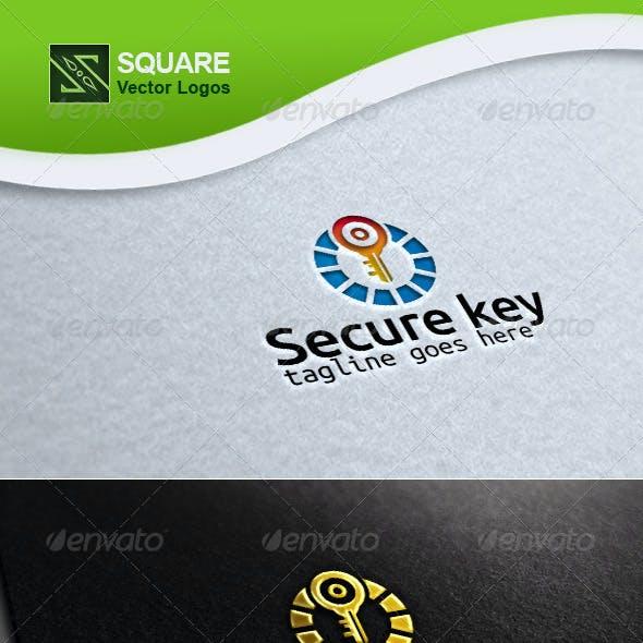 Secure Key Vector Logo Template