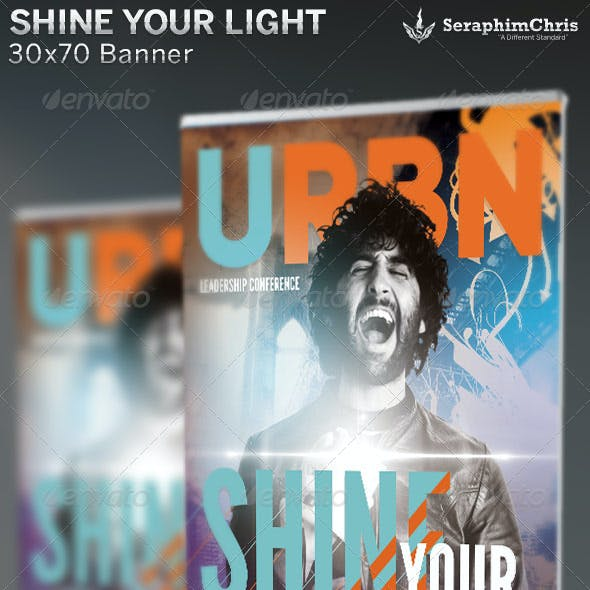 Shine Your Light: Church Banner Template