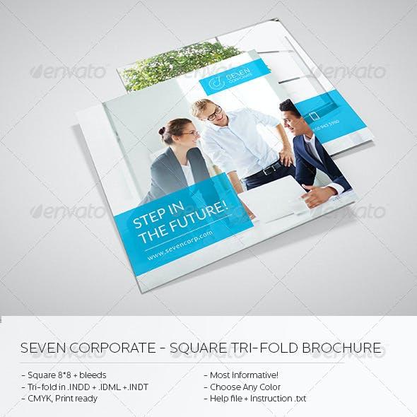 Square Corporate Tri-fold Brochure