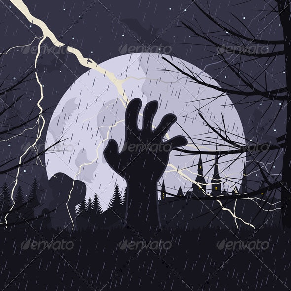 Hand from the earth - Halloween Seasons/Holidays