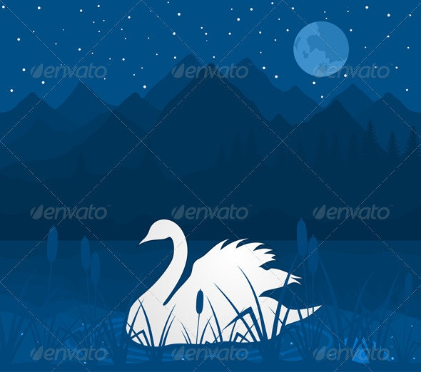 White swan - Animals Characters