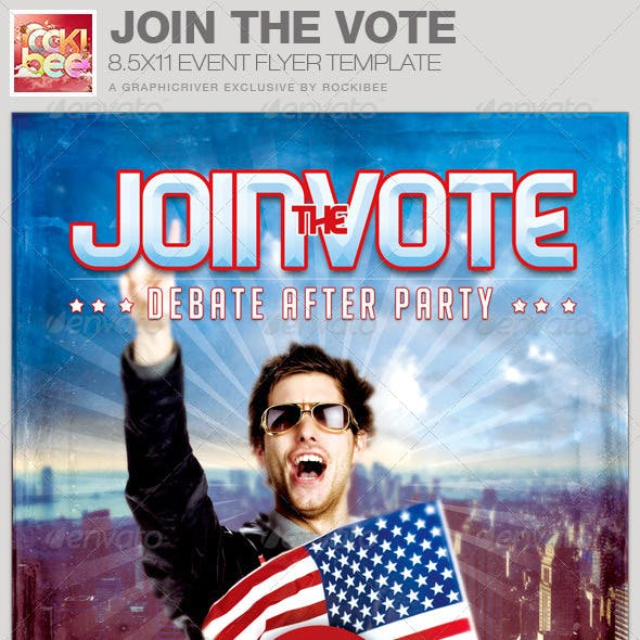 Join the Vote Event Flyer Template