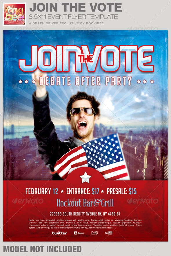 Join the Vote Event Flyer Template - Events Flyers