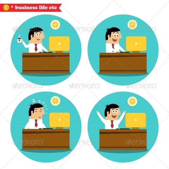 Office Worker at the Desk