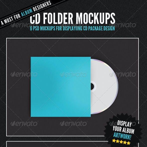 Album Cover - CD Folder Mockups