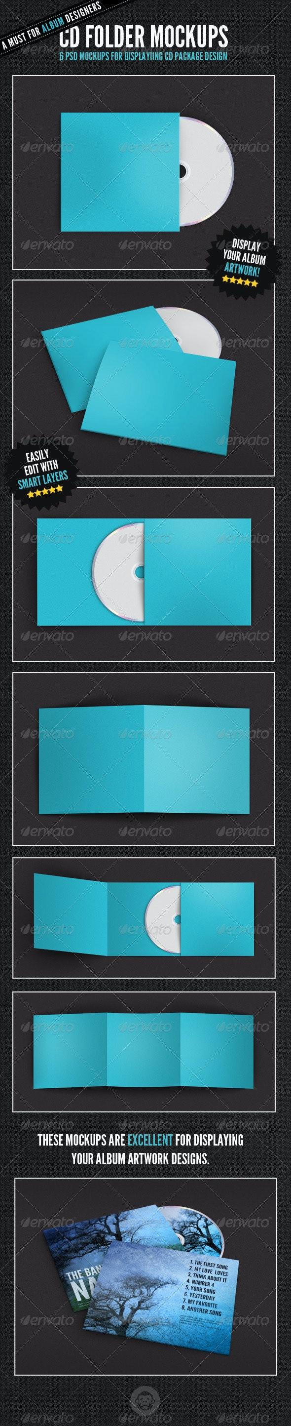 Album Cover - CD Folder Mockups - Discs Packaging
