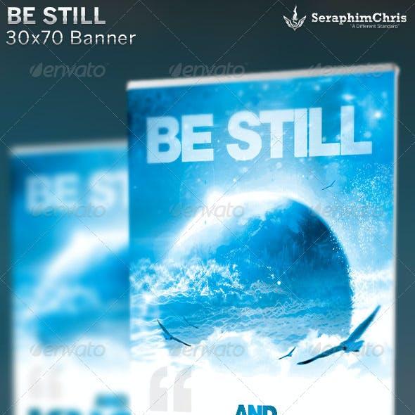 Be Still: Church Banner Template