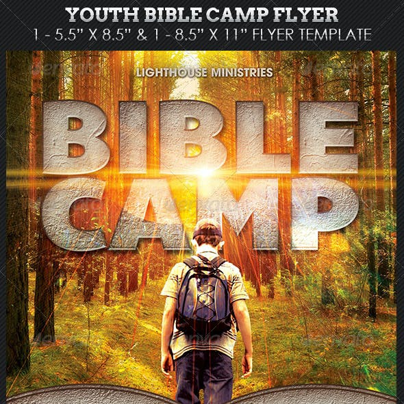 Youth Bible Camp Church Flyer Template