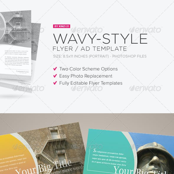 Wavy Style Flyer Template