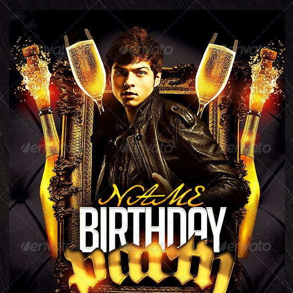 Birthday/Bachelor Party Flyer Template